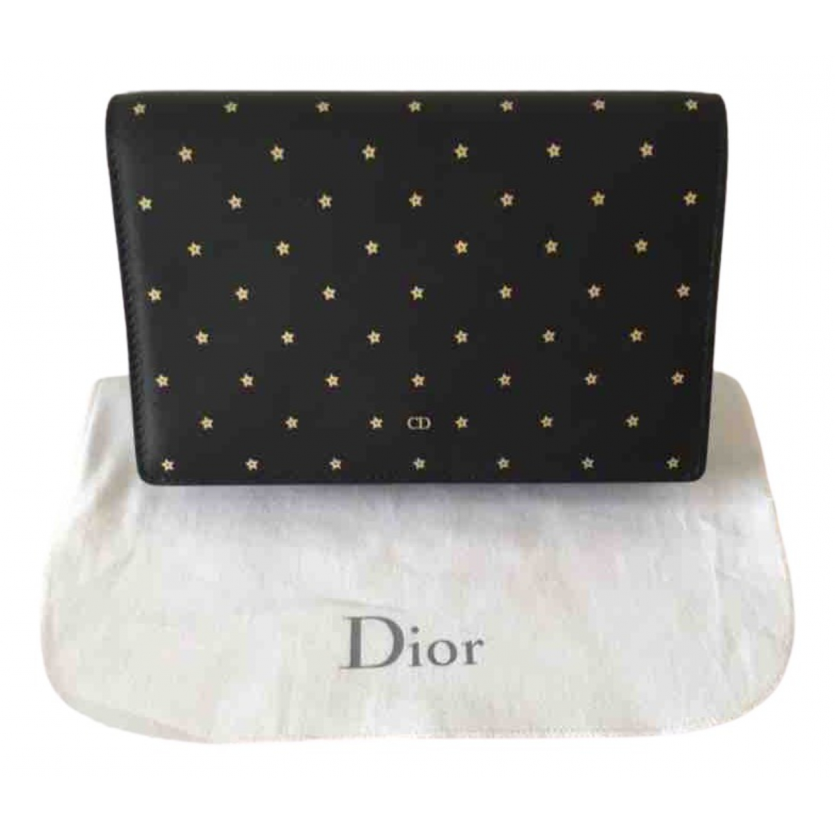 Dior \N Black Leather Clutch bag for Women \N