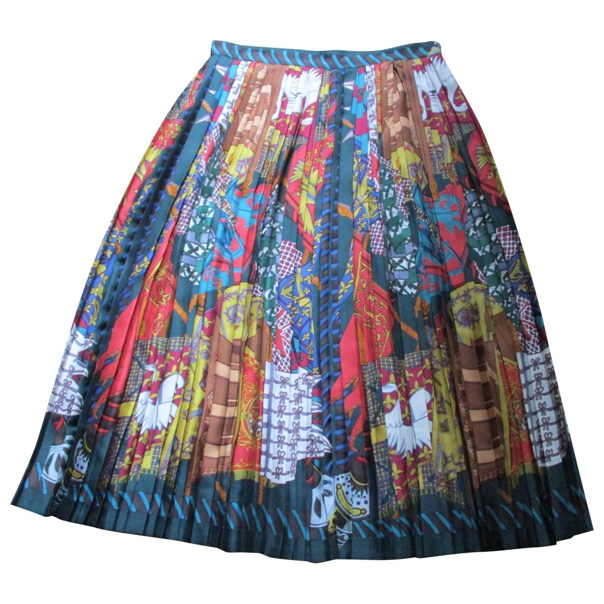 Hermes - Jupe   pour femme en soie - multicolore