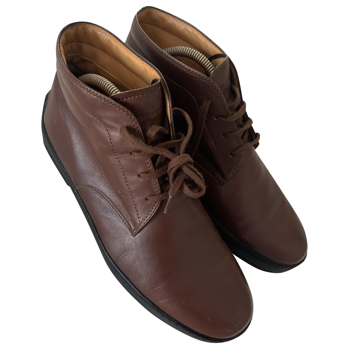 Tod's \N Brown Leather Boots for Men 7 US