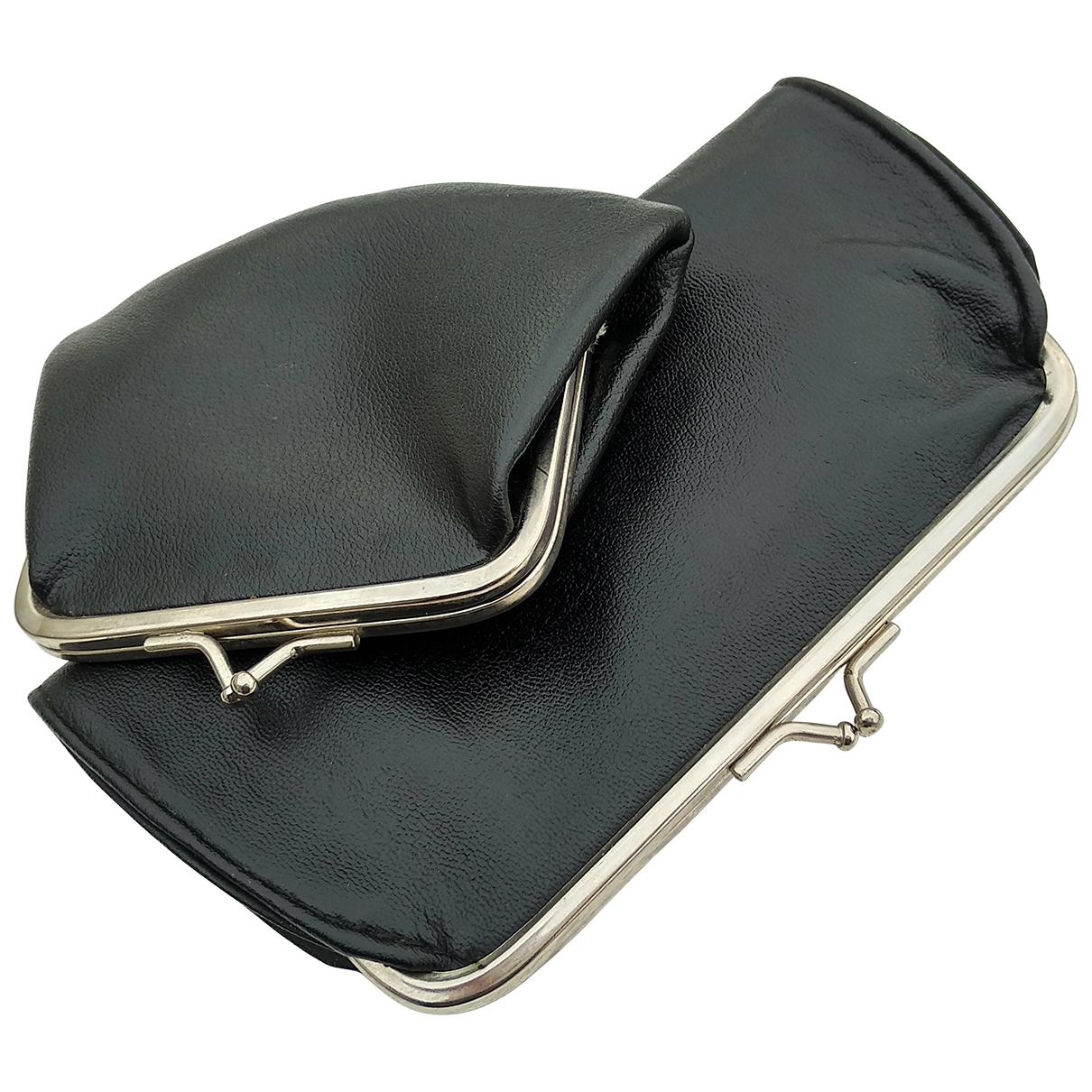 - Portefeuille   pour femme en toile - noir