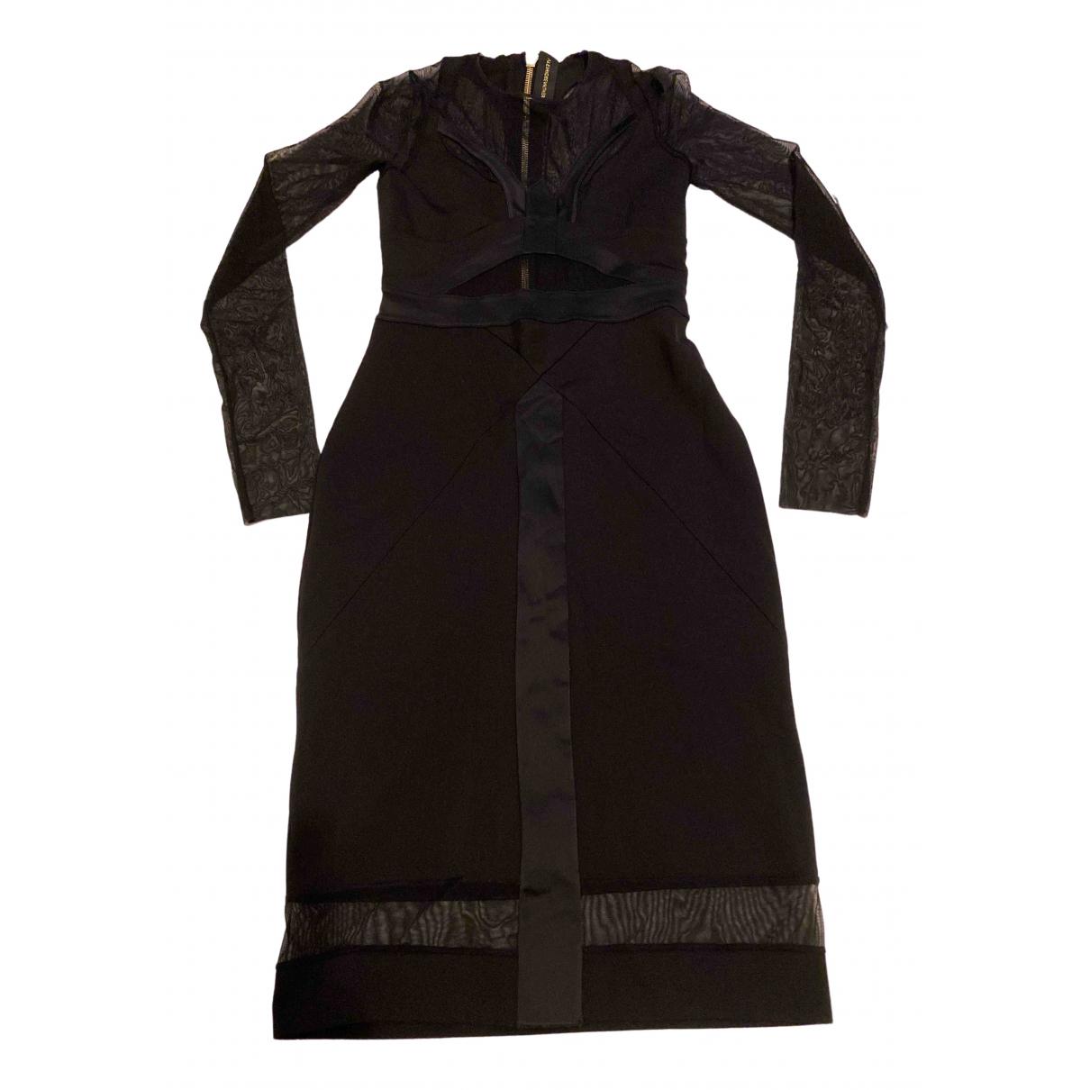 Alexandre Vauthier \N Kleid in  Schwarz Viskose