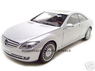 Mercedes CL Class 1/18 Silver Diecast Model Car by Autoart