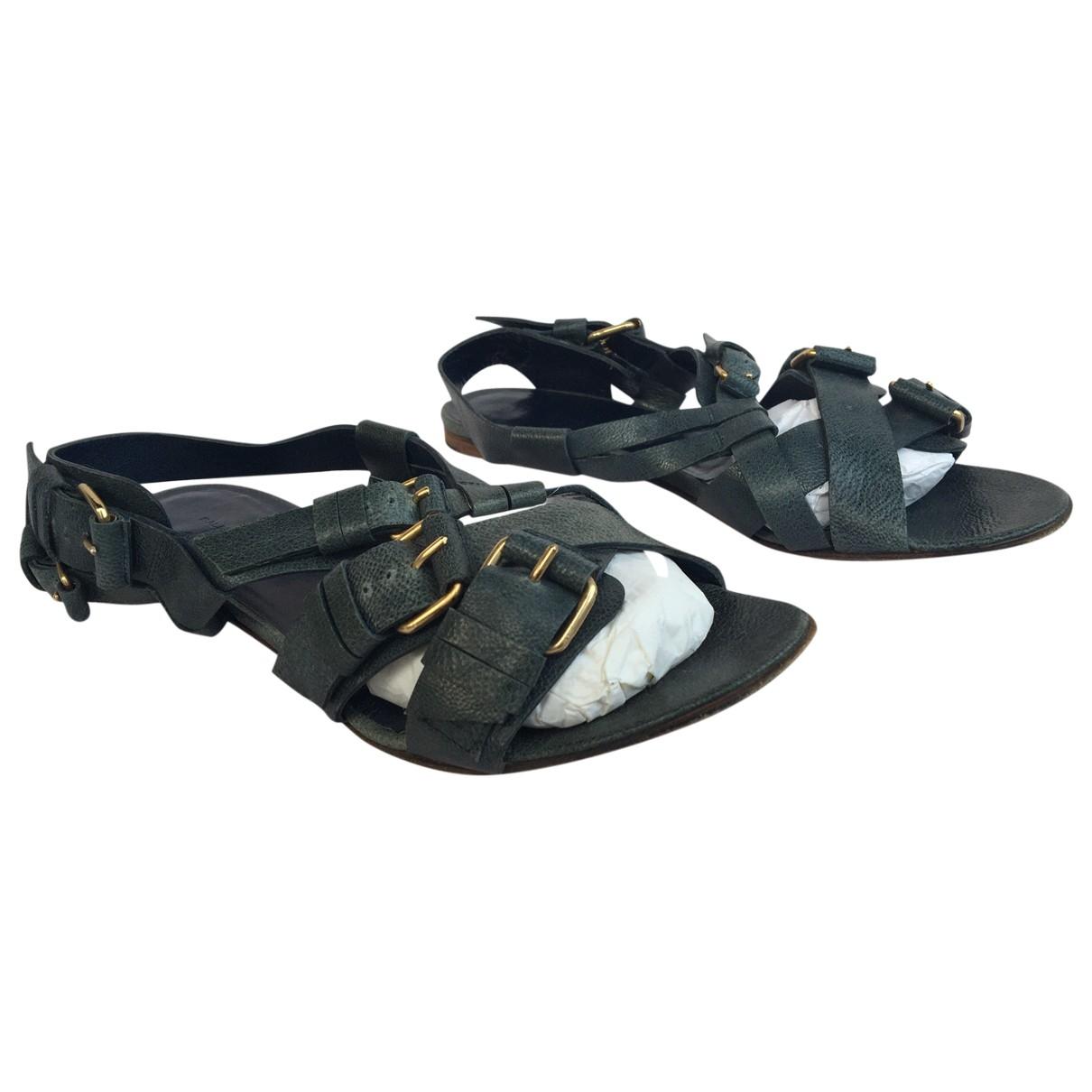 Balenciaga - Sandales   pour femme en cuir - marine