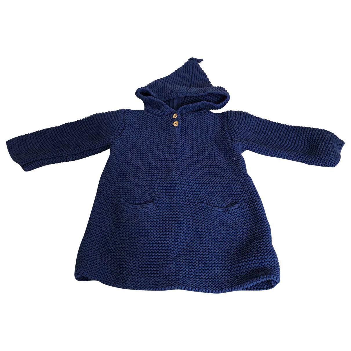 Bonpoint - Blousons.Manteaux   pour enfant en coton - bleu