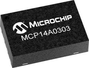 Microchip MCP14A0303-E/MNY Dual Low Side MOSFET Power Driver, 3A 8-Pin, TDFN (150)