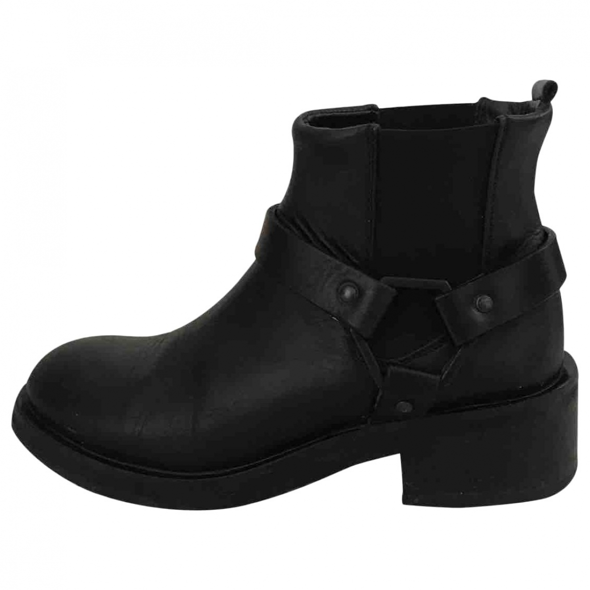 Royal Republiq - Bottes   pour femme en cuir - noir