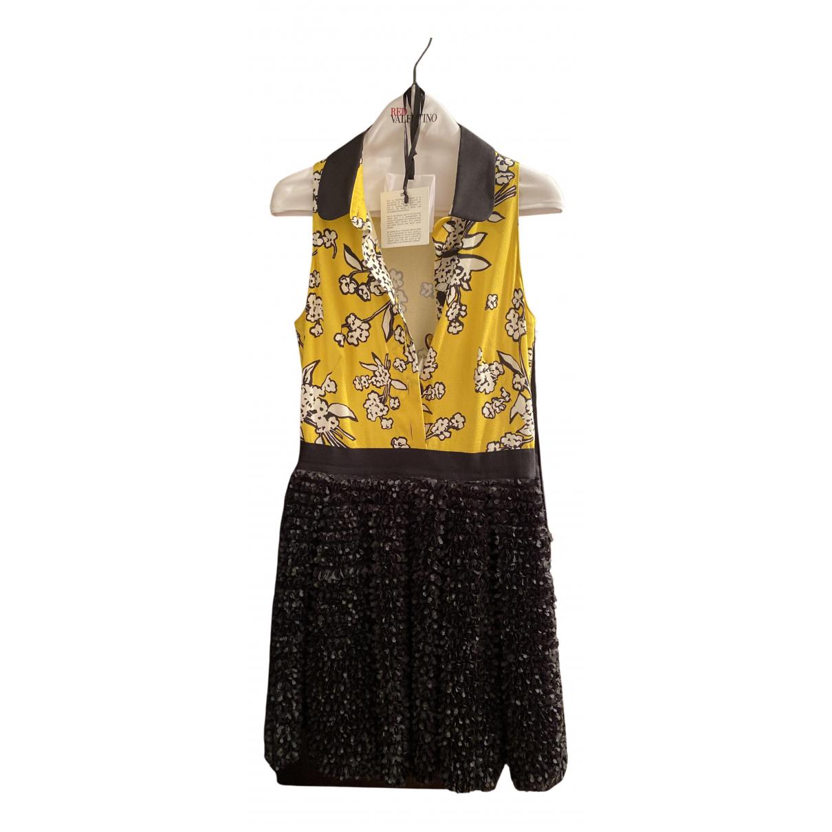 Red Valentino Garavani \N Kleid in  Schwarz Baumwolle - Elasthan