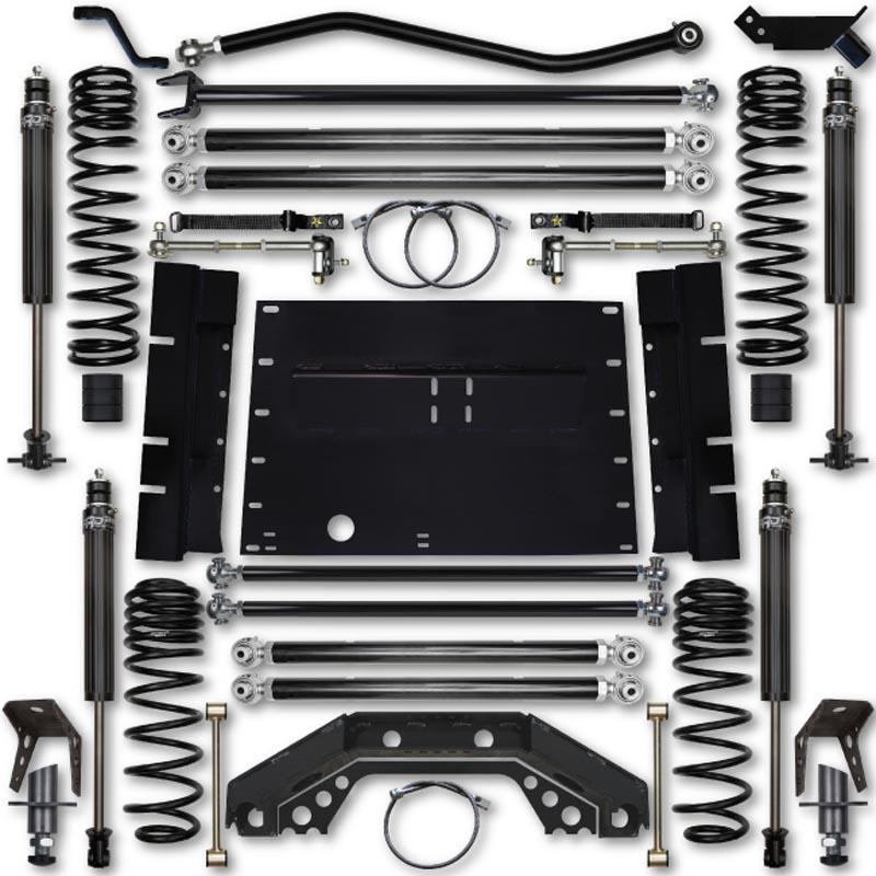 Rock Krawler TJ35XFLA-5S02S1 TJ 3.5 Inch X Factor 5 Inch Stretch Stg 1 Long Arm Lift Kit w/ 2.25 RRD Shocks 03-06 Wrangler