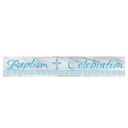 Foil Blue Radiant Cross