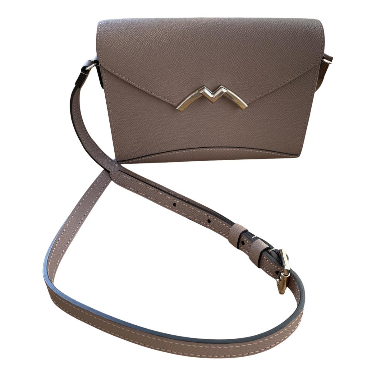 Moynat Paris \N Beige Leather handbag for Women \N