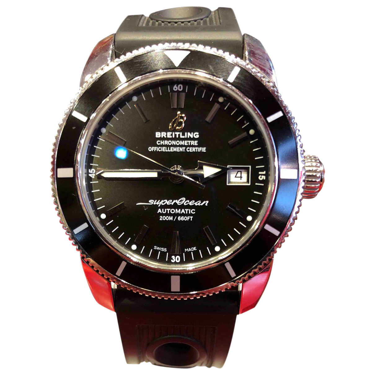 Breitling - Montre SuperOcean pour homme en acier - noir
