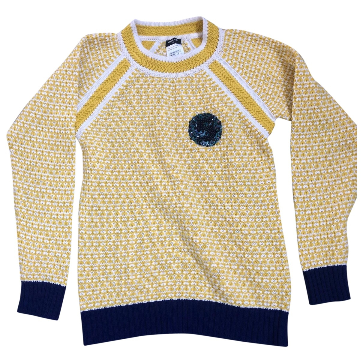 Chanel N Yellow Cashmere Knitwear for Women 38 FR