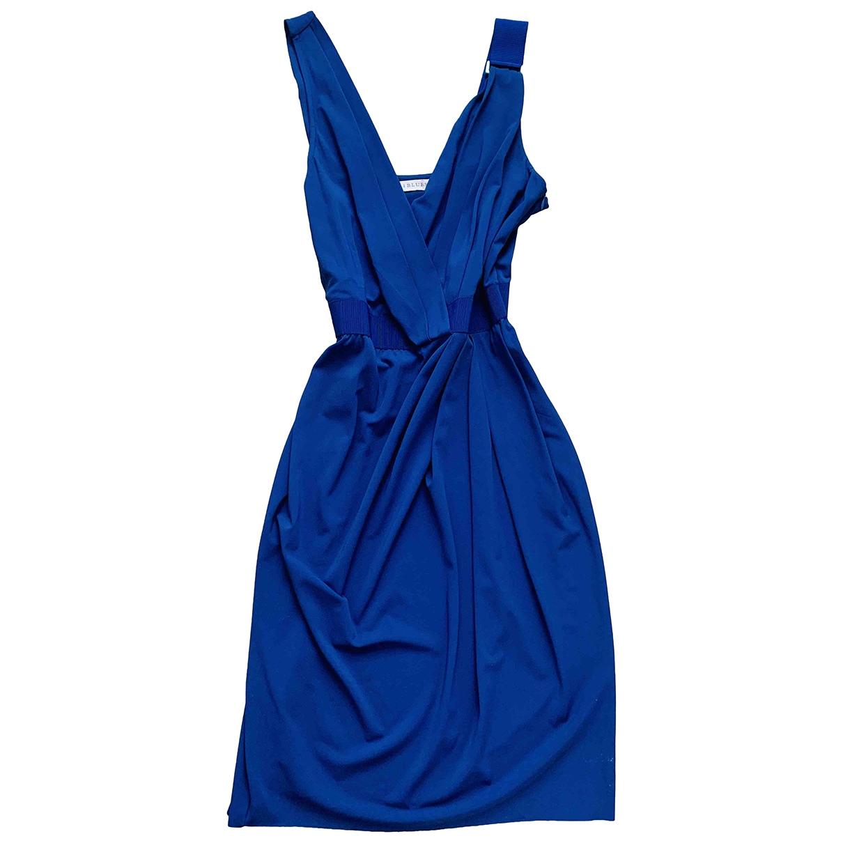 Non Signe / Unsigned Hippie Chic Kleid in  Blau Synthetik