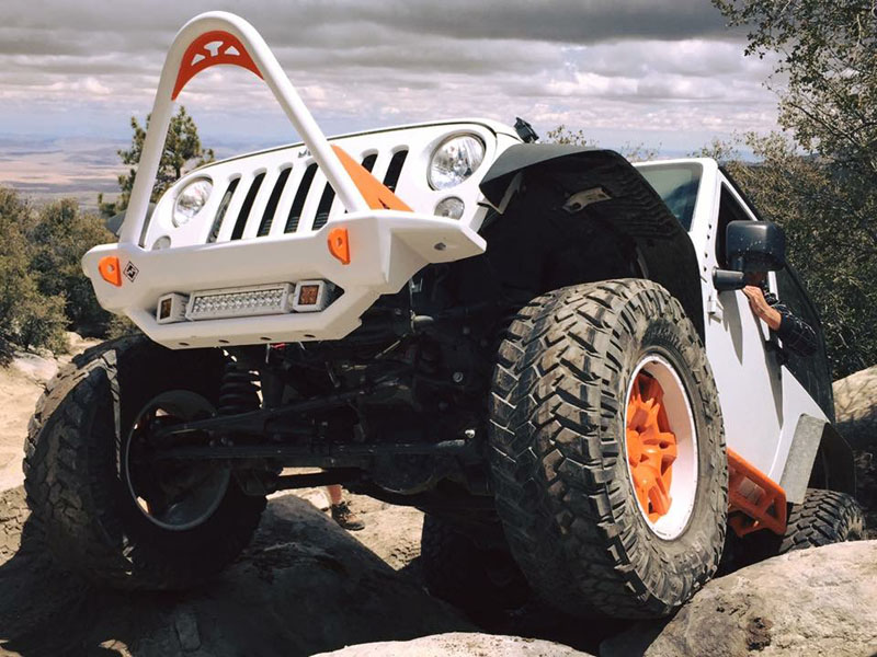 Jeep JK Front Mid Bumper With Light Enclosure 07-18 Wrangler JK 2/4 Door Bare Steel NBO Excessive Industries EI4012146