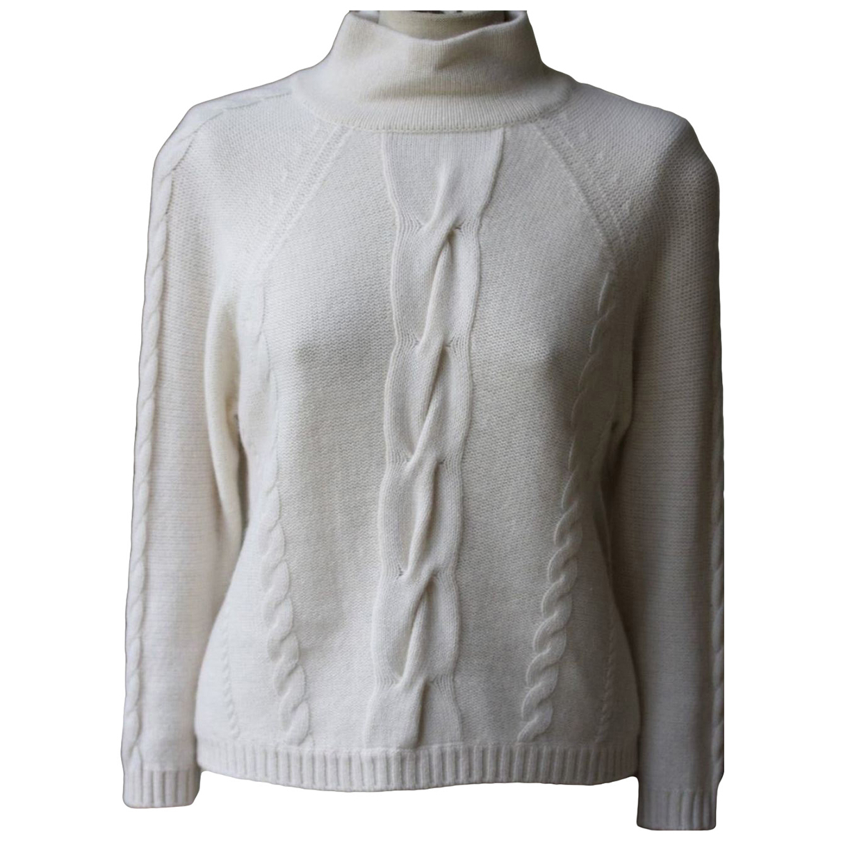 Non Signe / Unsigned \N Pullover in  Weiss Kaschmir