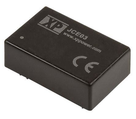 XP Power JCE03 3W Isolated DC-DC Converter Through Hole, Voltage in 36 → 75 V dc, Voltage out 5V dc