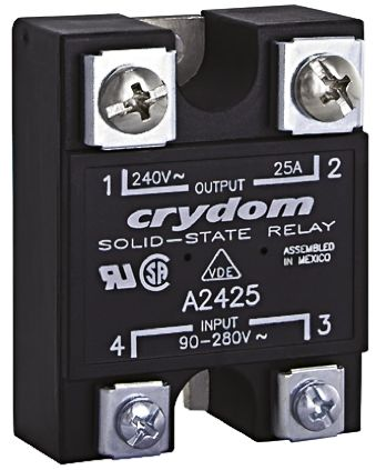 Sensata / Crydom 75 A Solid State Relay, Zero Cross, Panel Mount, SCR, 280 V rms Maximum Load