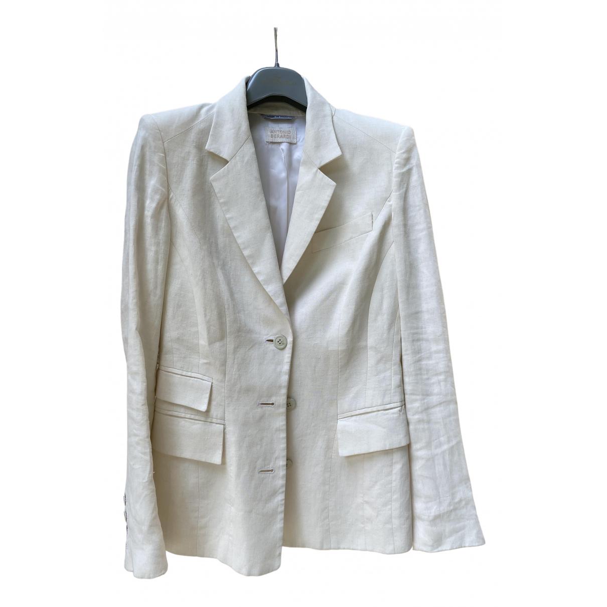 Antonio Berardi - Veste   pour femme en lin - blanc