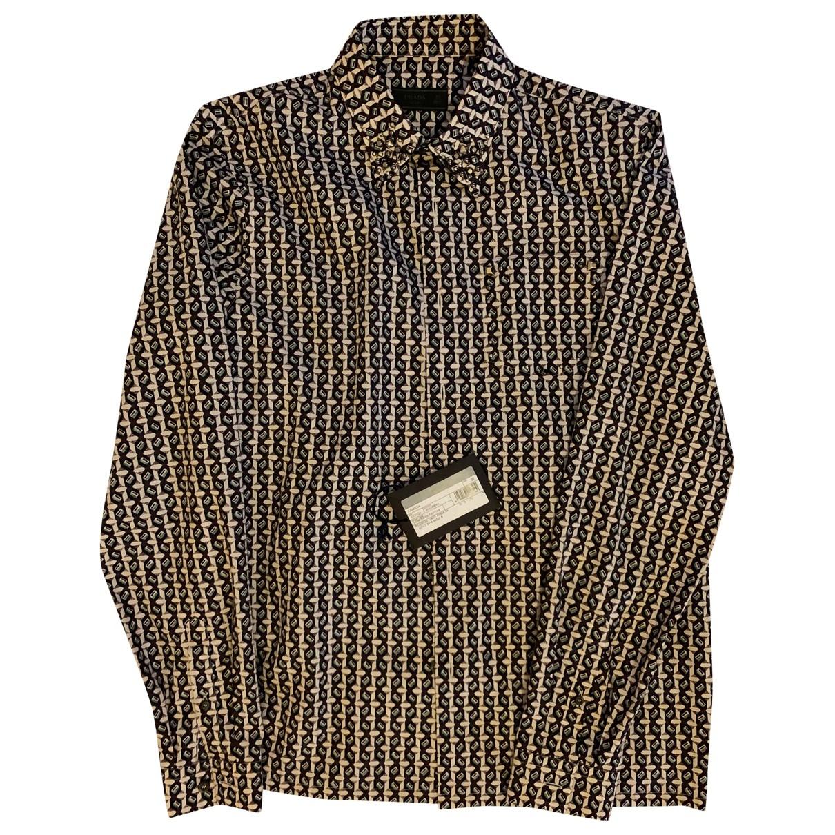 Prada \N Multicolour Cotton Shirts for Men 39 EU (tour de cou / collar)
