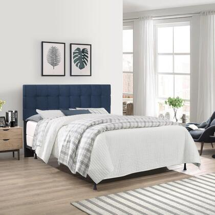 Delaney Collection 2656HKR King Size Upholstered Headboard with Frame in Blue