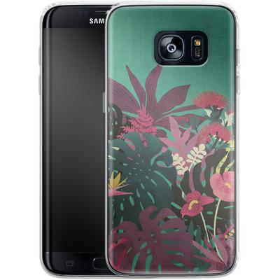 Samsung Galaxy S7 Edge Silikon Handyhuelle - Tropical Tendencies von Little Clyde
