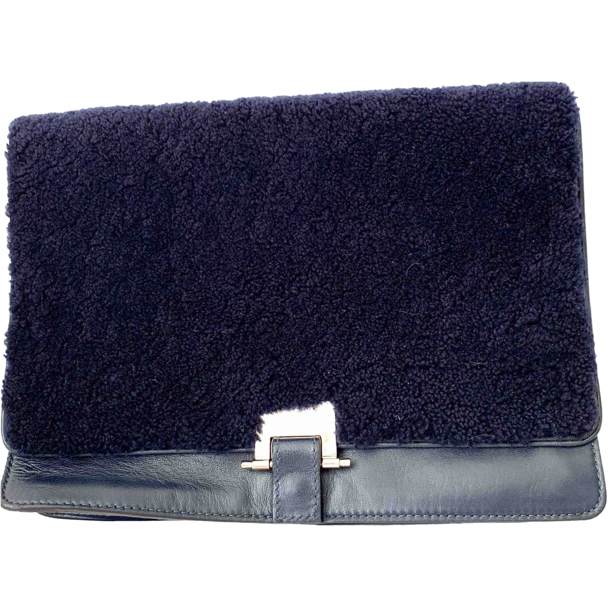 Sandro \N Blue Leather Clutch bag for Women \N