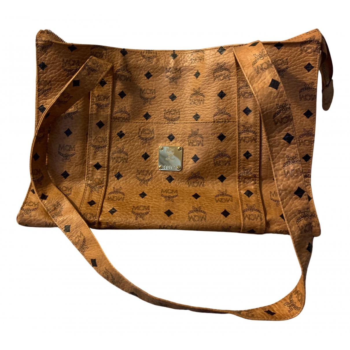 Mcm \N Handtasche in  Kamel Leder
