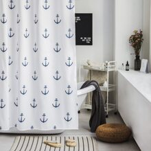 Duschvorhang mit Anker Muster