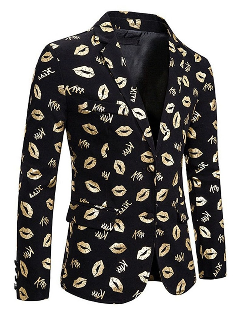 Ericdress Print Notched Lapel Single-Breasted Leisure Blazers