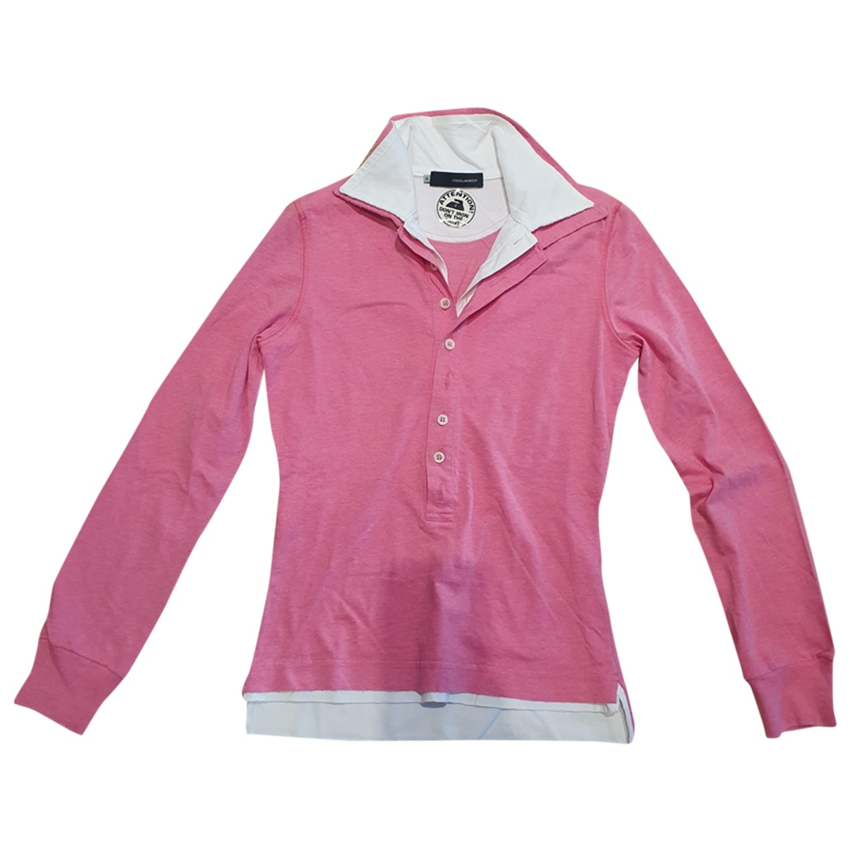 Dsquared2 \N Pullover in  Rosa Baumwolle