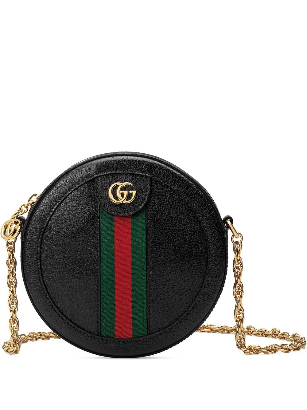 Ophidia Mini Leather Shoulde Bag