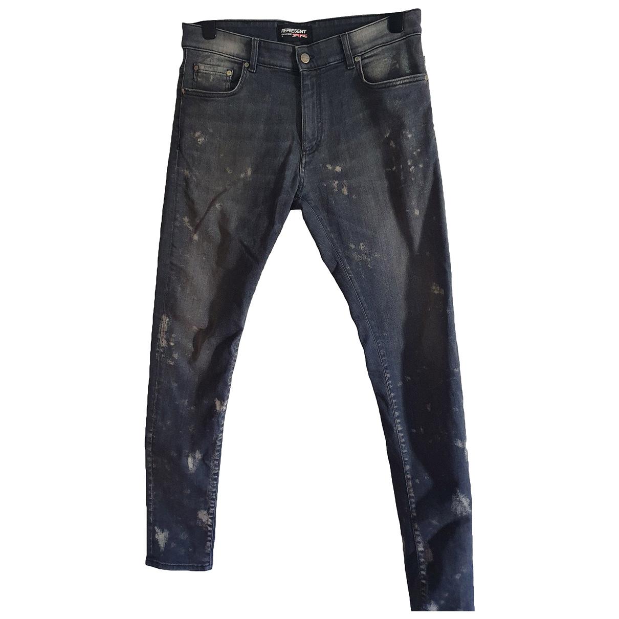 Represent \N Grey Cotton Jeans for Men 33 US