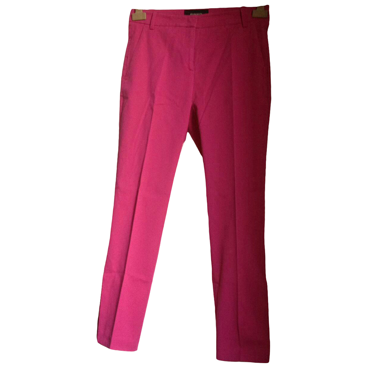 Pinko \N Pink Cotton Trousers for Women 40 IT