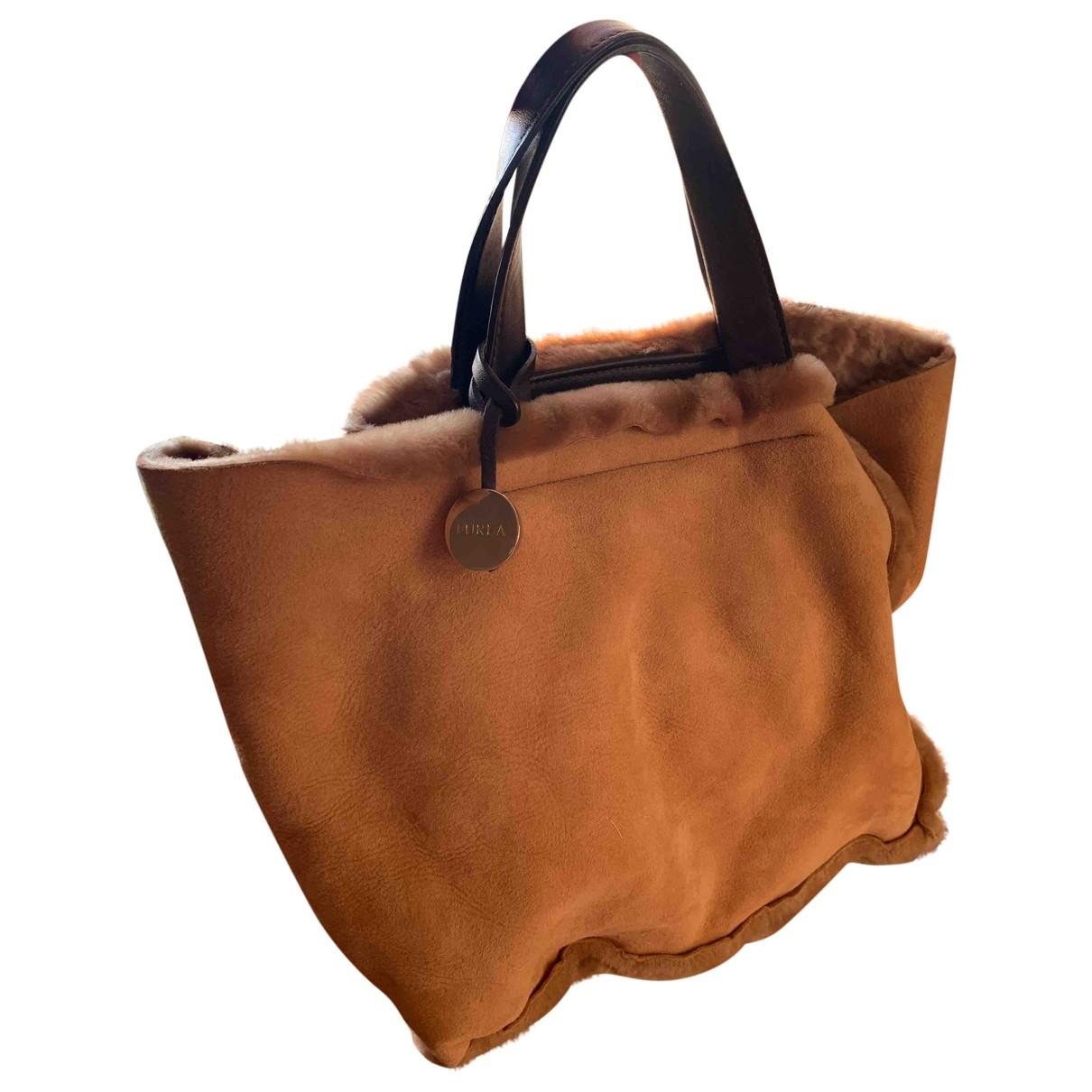 Furla \N Beige Mongolian Lamb handbag for Women \N