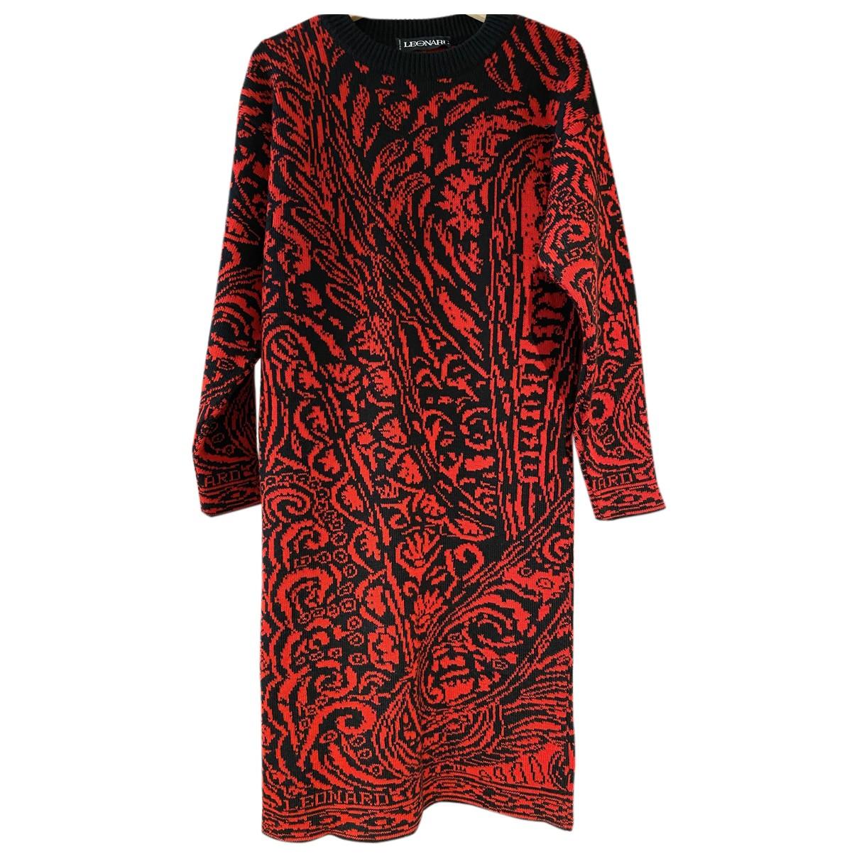 Leonard \N Kleid in  Rot Wolle