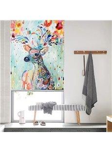 Nordic Art Watercolor Animal Deer Minimalist Roller Shades