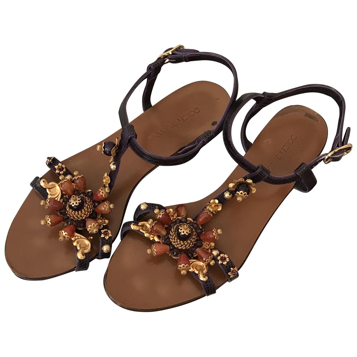 Dolce & Gabbana \N Sandalen in  Lila Exotenleder