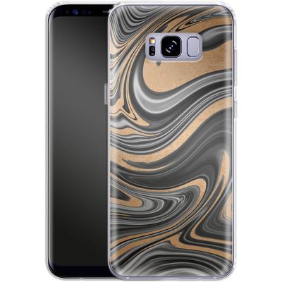 Samsung Galaxy S8 Plus Silikon Handyhuelle - Gold Swirl von #basic