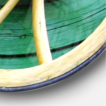 CLM038-C38 Antique Wagon Wheel On Turquoise