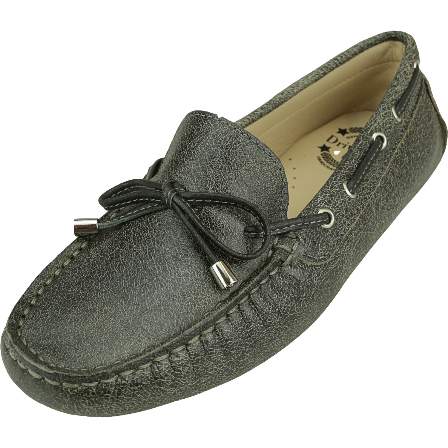 Driver Club Usa Women's Nantucket Grey Stone Ankle-High Leather Loafers & Slip-On - 5.5M