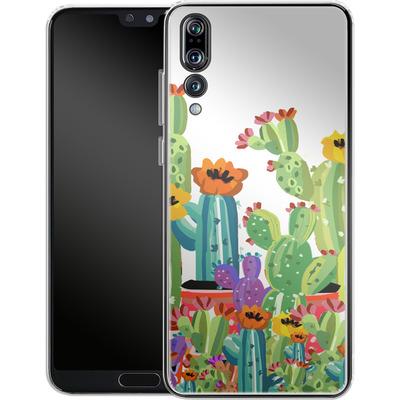 Huawei P20 Pro Silikon Handyhuelle - Cacti Land von Mukta Lata Barua