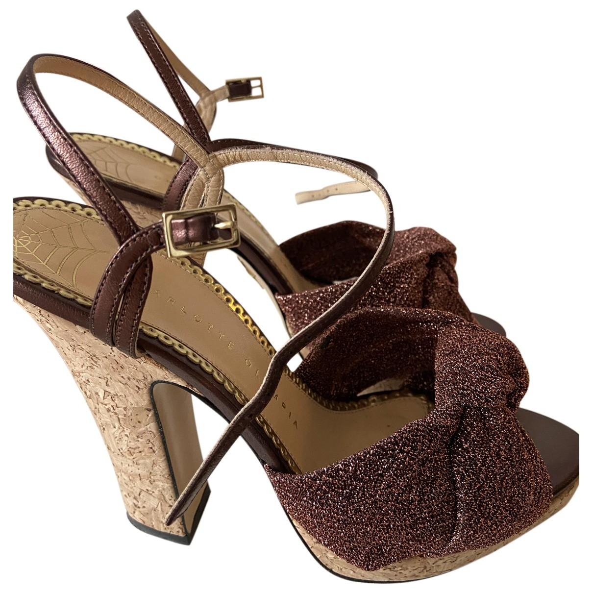 Charlotte Olympia N Metallic Cloth Heels for Women 38 EU