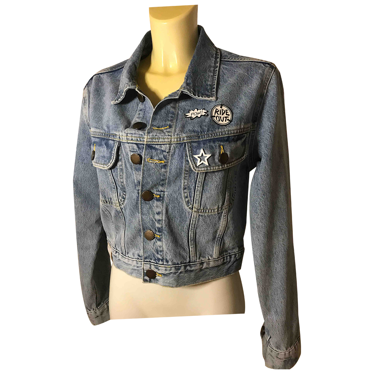 Maje Spring Summer 2020 Blue Denim - Jeans jacket for Women 40 FR