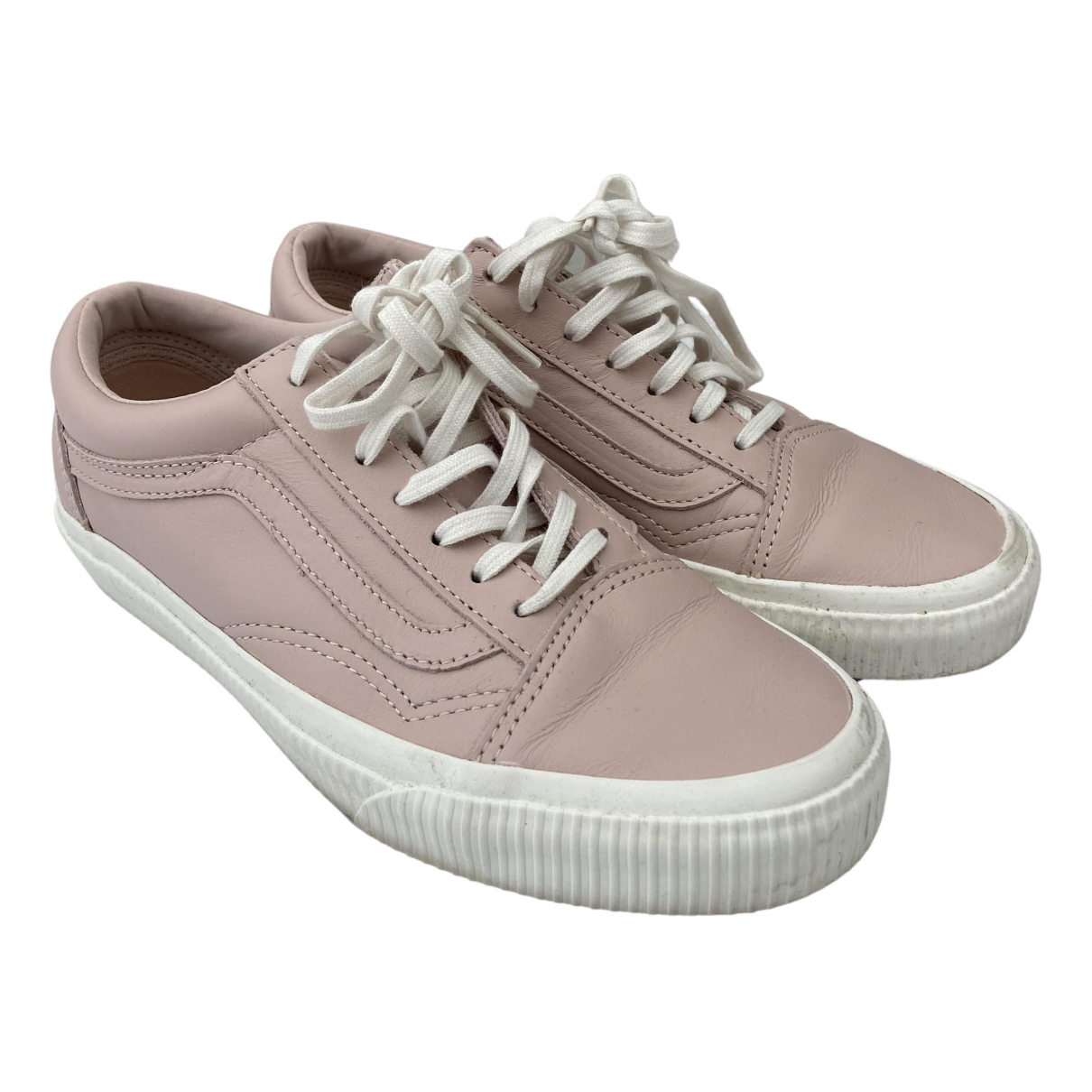 Vans N Pink Leather Trainers for Women 36.5 EU