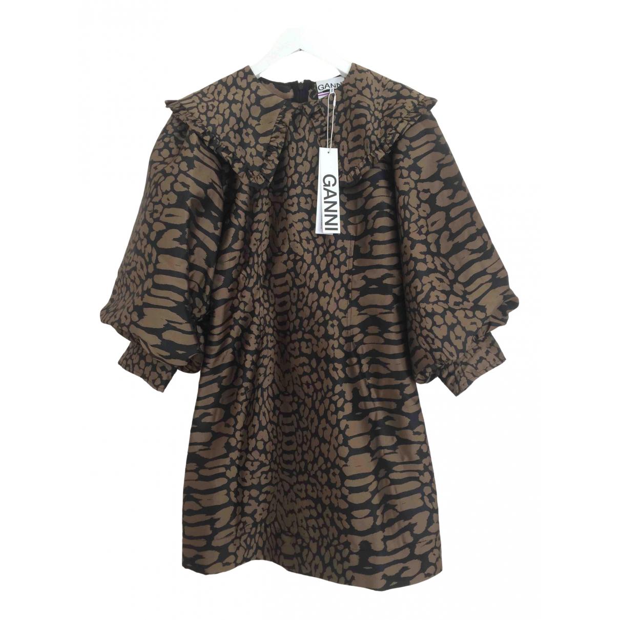 Ganni Fall Winter 2019 Brown dress for Women 34 FR