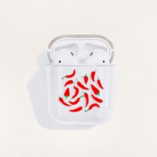 1pc Chili Pattern AirPods Case