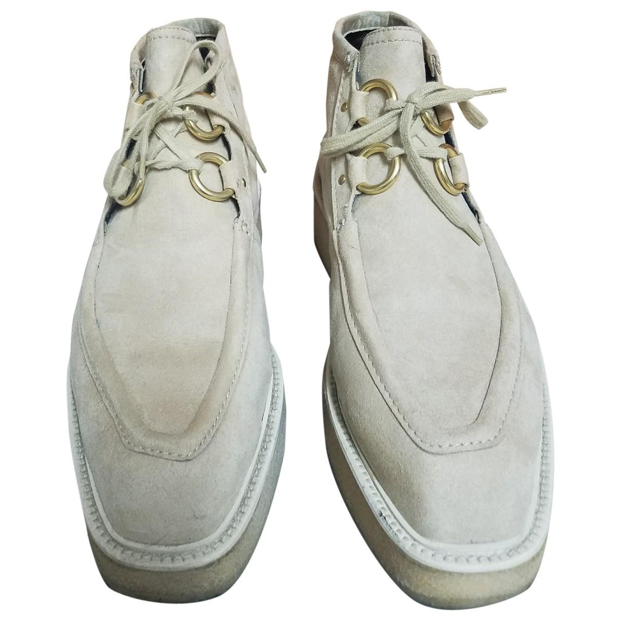Stella Mccartney - Boots   pour femme en toile - beige