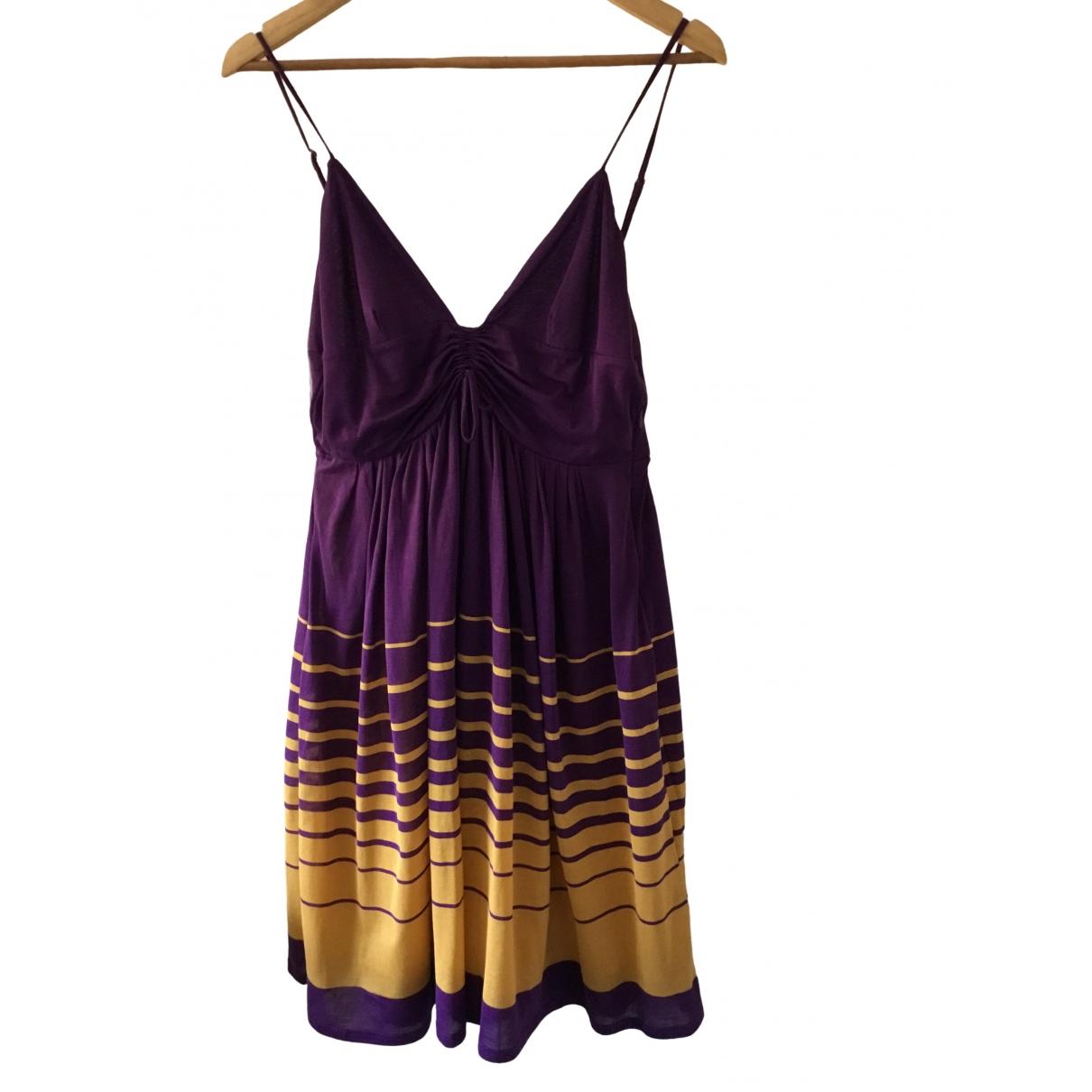 Sport Max \N Kleid in  Lila Baumwolle