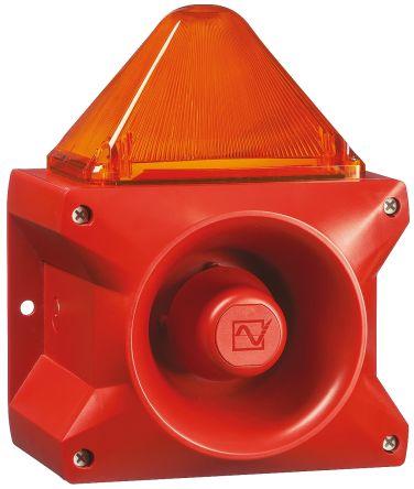 Pfannenberg PA X 10-10 Sounder Beacon 110dB, Amber Xenon, 24 V dc