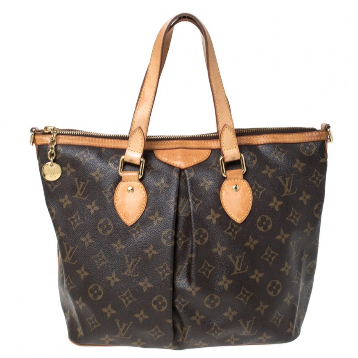Louis Vuitton Palermo Brown Cloth handbag for Women N
